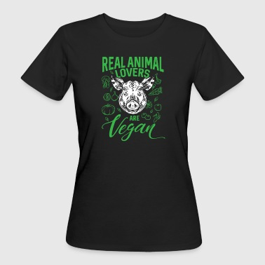 Real Animal Lovers Are Vegan - Vrouwen Bio-T-shirt