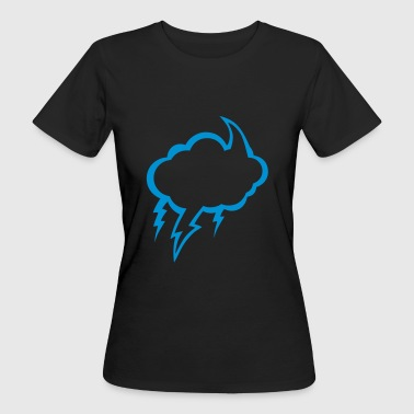 bubble cloud eclair dark cloudy lightning 2210 - Women's Organic T-shirt