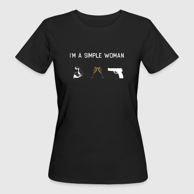 I am a simple woman - muscles champagne - Women's Organic T-shirt