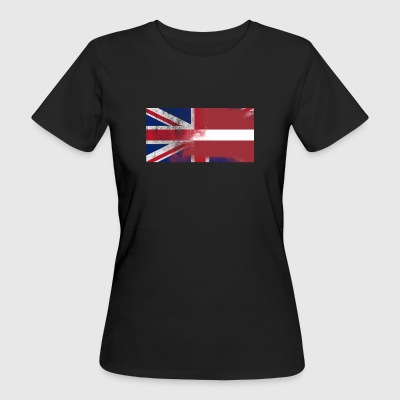 British Latvian Half Latvia Half UK Flag - Women's Organic T-shirt