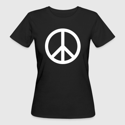 Peace Sign Filled White - Frauen Bio-T-Shirt