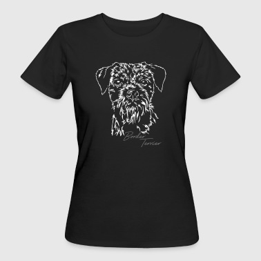 BORDER TERRIER Portrait Wilsigns - Women's Organic T-shirt