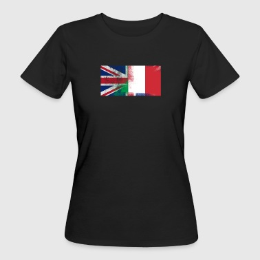 British Italian Half Italy Half UK Flagitaly shirt - Women's Organic T-shirt