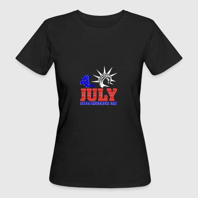 4th of July 2017 Independence day - Women's Organic T-shirt