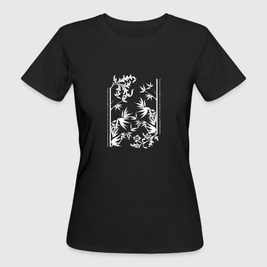 floral bamboo wite - T-shirt Bio Femme