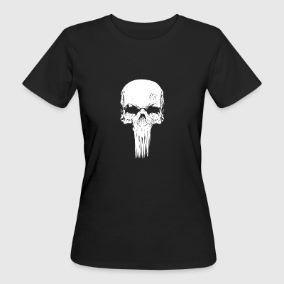 Skull long white - Frauen Bio-T-Shirt