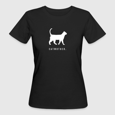 Cats - Catmother with silhouette - Women's Organic T-shirt