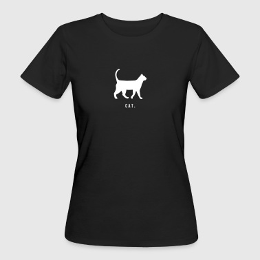 Cat - Cat lettering with silhouette - Women's Organic T-shirt