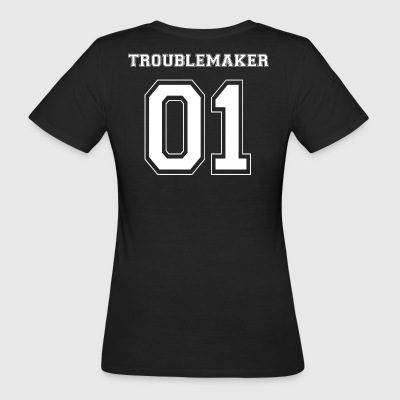 TROUBLEMAKER 01 - White Edition - Women's Organic T-shirt