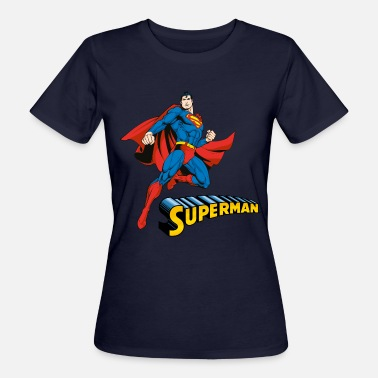 DC Comics Superman Pose Lettrage - T-shirt bio Femme