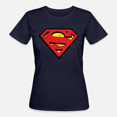Kent DC Comics Superman Logo Used Look - Frauen Bio T-Shirt