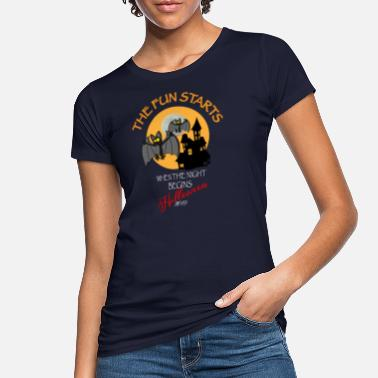 Spass Halloween Spass Nacht Fledermäuse - Frauen Bio T-Shirt