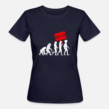 Dark Matter Black Lives Matter Evolution development dark - Women's Organic T-Shirt