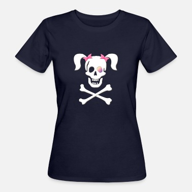 Piraten Totenkopf Piraten bitch, piratenbraut, Pirat - Frauen Bio-T-Shirt