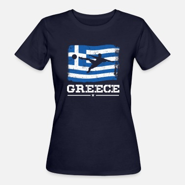 Soccer Greece Super Cool Awesome Greece Soccer Club Greece Flag - Women's Organic T-Shirt