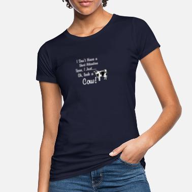 Span Cow Short Attention Span - Women's Organic T-Shirt