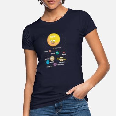 System Kids sun planet planets solar system - Women's Organic T-Shirt