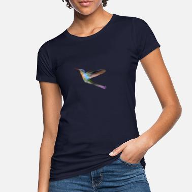 Watercolor colorful hummingbird watercolor gift - Women's Organic T-Shirt