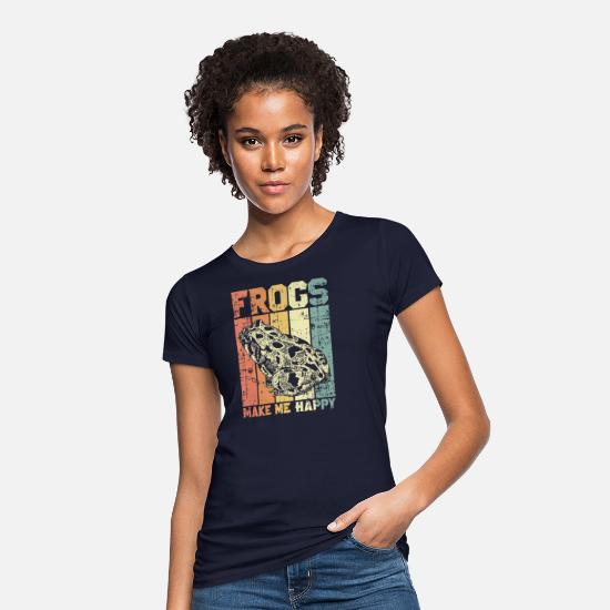 Animal Rights Activists T-Shirts - Frogs animal rights activists - Women's Organic T-Shirt navy