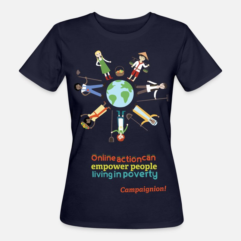 Action T-Shirts - Empowerment - Women's Organic T-Shirt navy