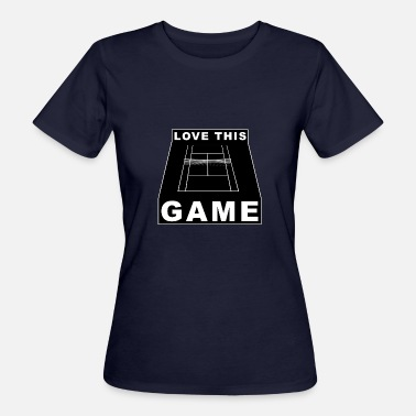 I Love This Game Tennis Love This Game Tennis Black Gift - T-shirt ecologica da donna