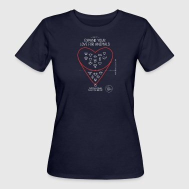 Expand your love for animals (dark) - Women's Organic T-Shirt