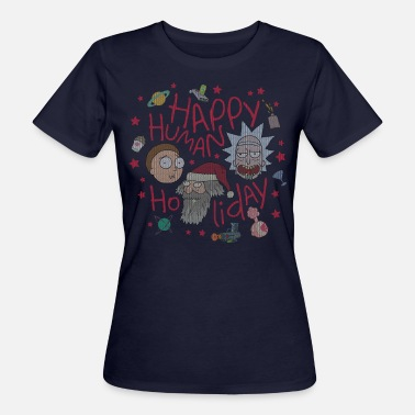 Nikolaus Rick and Morty Happy Human Holiday Sweater - Frauen Bio-T-Shirt