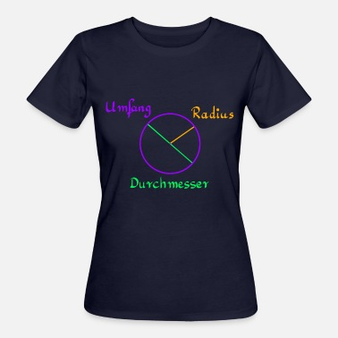 Diametre Circle with circumference, radius and diameter - Women's Organic T-Shirt