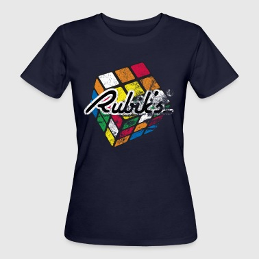 Rubiks Cube Rubik's Cube Colourful Retro Magic Cube - Women's Organic T-Shirt