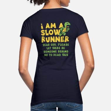 Slow Slow runner turtle jogging running runner - Women's Organic T-Shirt