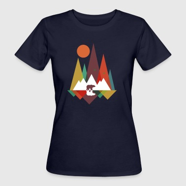 Bear in the mountains - T-shirt bio Femme