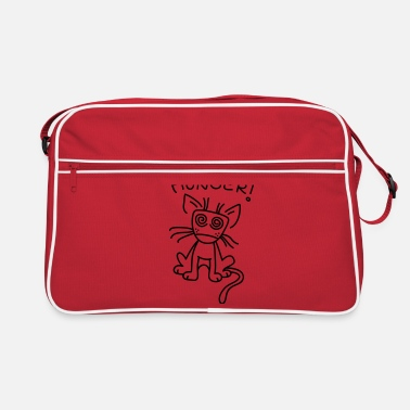 Small cat is very hungry - Retro Bag