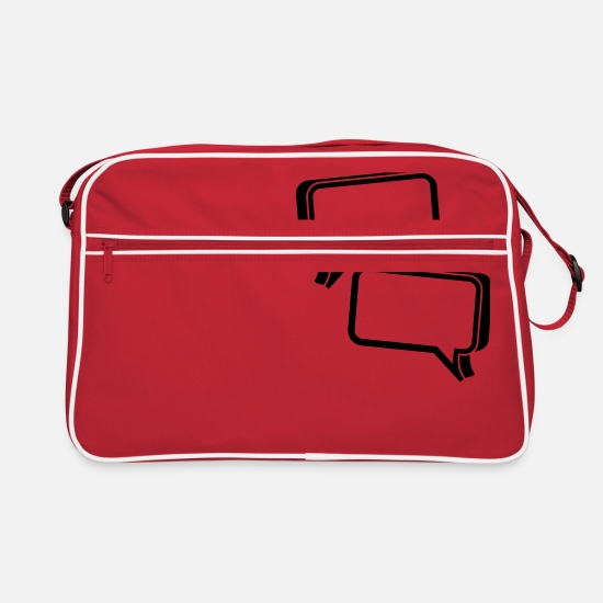 Square Bags & Backpacks - bubble chat - Retro Bag red/white