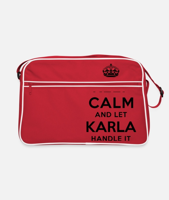 Calm Bags & Backpacks - keep calm and let karla handle it - Retro Bag red/white