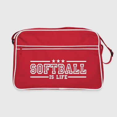 softball is life deluxe - Retroväska
