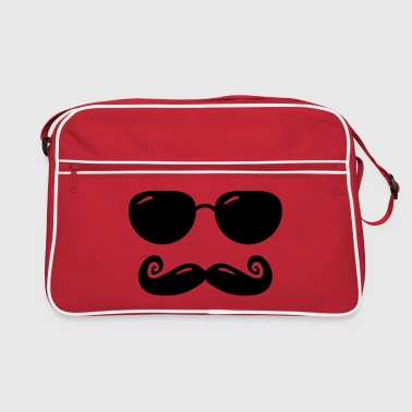 sunglasses and moustache - Borsa retrò
