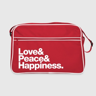 love peace happiness - Retro Tasche