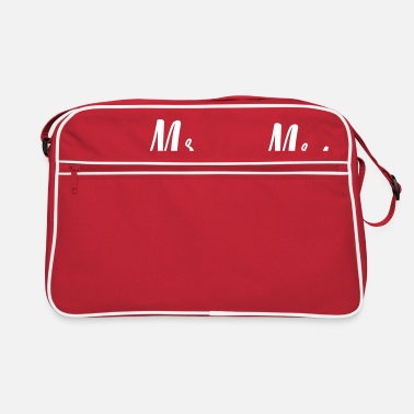 Mrs Mr Wifey mr_and_mrs_2_hearts - Retro Bag
