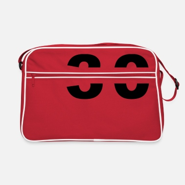 Number - 30 - Thirty - Retro Bag