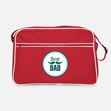 Superpapa Best Dad Vater Daddy Papi Papa Dad - Retrotasche