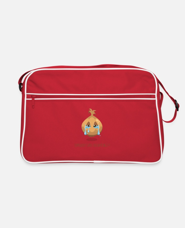 Christmas Bags & Backpacks - FUNNY: CRYING ONION! - Retro Bag red/white