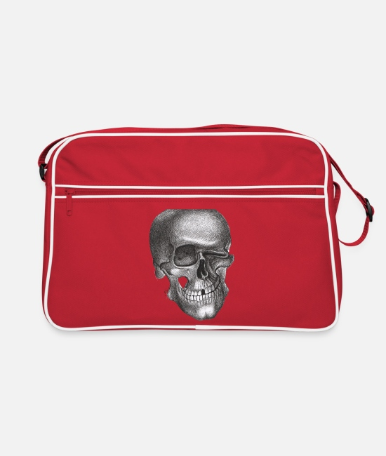 Twinkle Skull Bags & Backpacks - Twinkle Skull - Retro Bag red/white