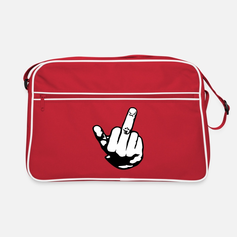 Bad Bags & Backpacks - finger - Retro Bag red/white