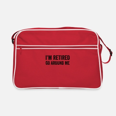 Celebrate I'm Retired Go Around Me - Retro Bag
