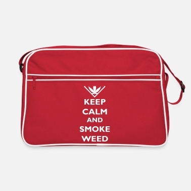 Weed Keep Calm and Smoke Weed - Retro Bag