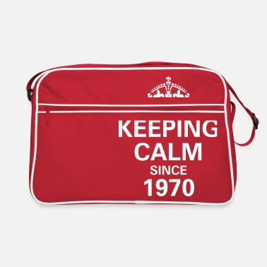 Calm Keeping Calm Since 1970 - 50 Years - Retro Bag