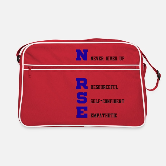 Occupation Bags & Backpacks - Nurse Definition - Retro Bag red/white