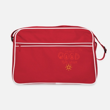 Snowflake Dear Santa Ive been a good girl this year - Retro Bag