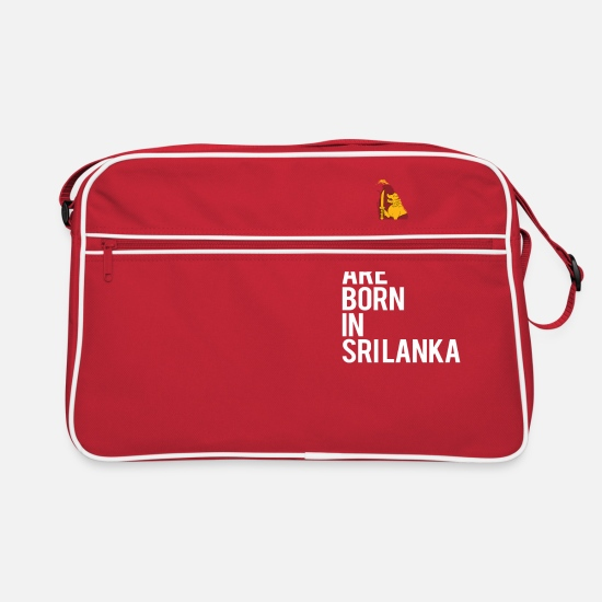 Country Bags & Backpacks - Legends are born in Sri Lanka - Retro Bag red/white