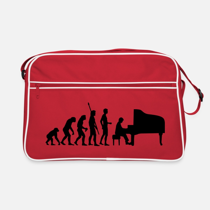 Music Bags & Backpacks - evolution_pianist - Retro Bag red/white